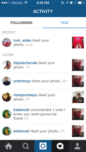 That moment Tom Wilson liked my Instagram post